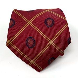 Tommy Hilfiger Classic Logo Grids Tie 100% Silk